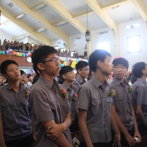J3G stands during the 144th graduation closing ceremony.